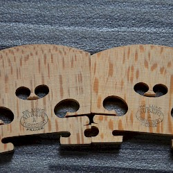 The medullary rays are clearly visible on these semi cut, commercially available, violin bridge blanks.